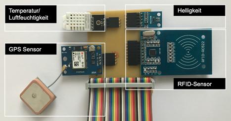 IoT-Prototyp: Platine mit Sensoren